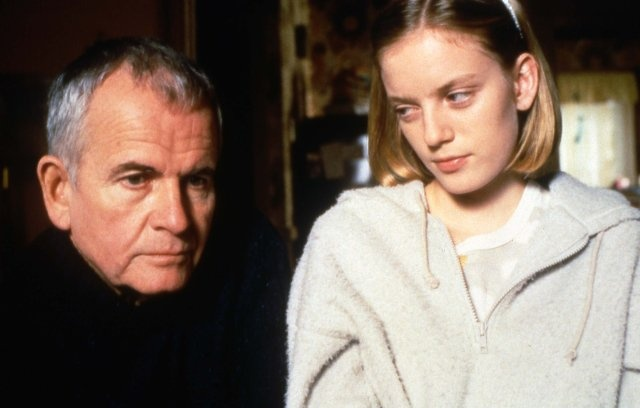 Ian Holm & Sarah Polley in The Sweet Hereafter (1997), directed by Atom Egoyan. One of the best highly underrated films. Extraordinary film.