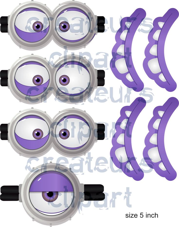 INSTANT Download minion-goggles-mouth by Createurs on Etsy