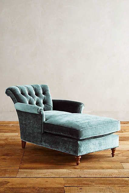 Slub Velvet Gwinnette Chaise Lounge