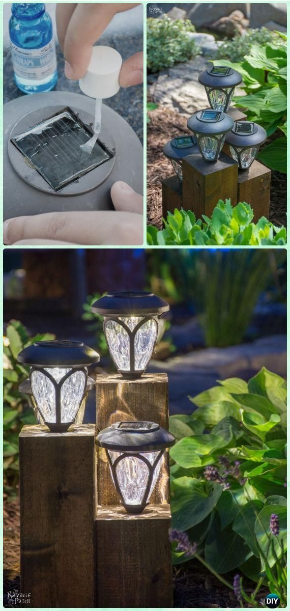 DIY Cedar Cube Landscape Lights Tutorial-DIY Solar Inspired Solar Light Lighting Ideas