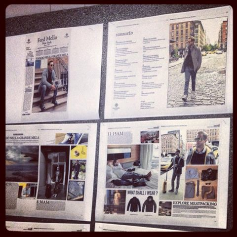 magazine fred mello - work in progress #backstage #fredmello #fredmello1982 #newyork #advcampaign#accessories#fallwinter13 #accessible luxury #cool #usa #mancollection#logo