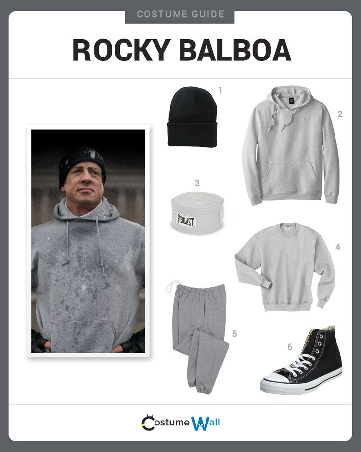 Dress Like Rocky Balboa from the movie, Rocky. See additional costumes and cosplays of Rocky Balboa.