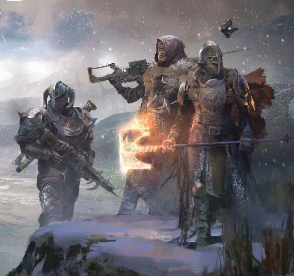 Guardians, wearing Rise Of Iron regalia.
