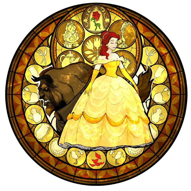 Beauty and the Beast stained glass   Tattoo inspiration ...
