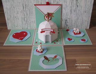 Geschenkbox Alaska Hochzeit Überraschungsbox Explosionsbox Geschenkgutschein Geldgeschenk Reise Geburtstag Igluübernachtung