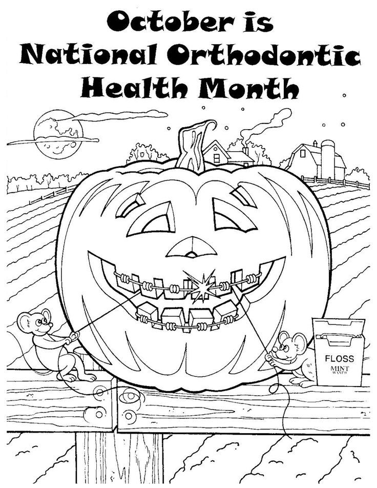 Marvelous Dental Health Month Coloring Pages 90 October Month Coloring Pages