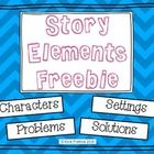 This freebie includes 4 pages of cards that can be used to make a Story Elements Chart.  There are a variety of Characters, Settings, Problems and ...