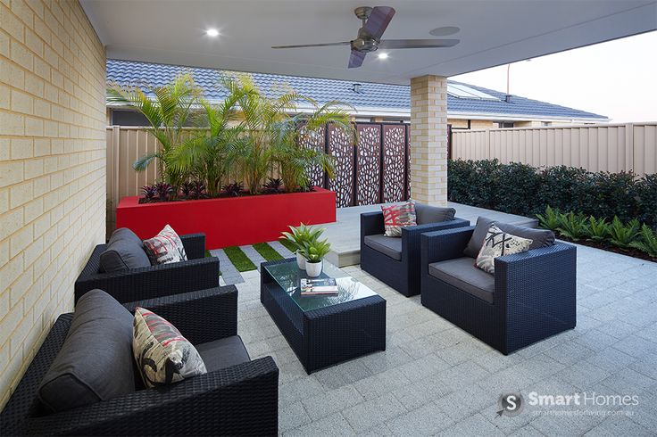Modern Patio Alfresco Design #patio #alfresco #outdoors #backyard  #smarthomesforliving
