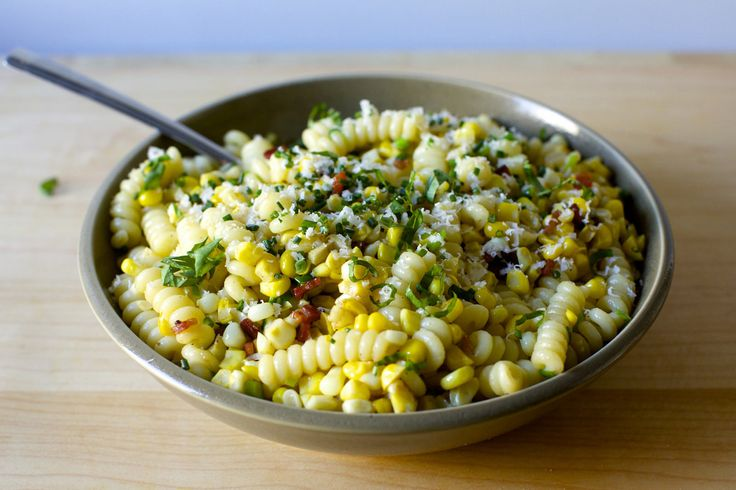 pasta with corn bacon and parmesan | by smitten kitchen