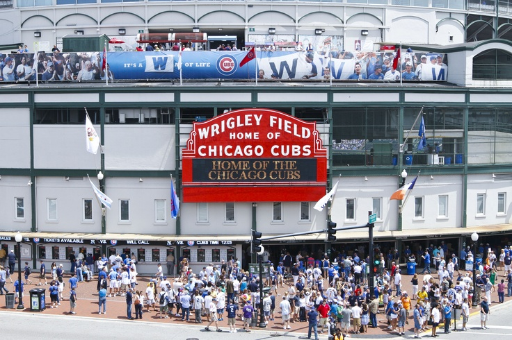 The famous Wrigley Field Marquee.