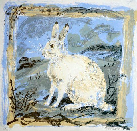 Mark Hearld's Mountain Hare lithograph