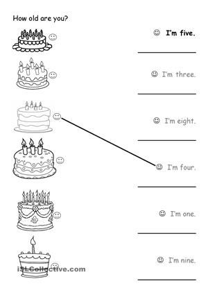 14 FREE ESL how old are you worksheets | flashcards -clips on board. | Pinterest | Worksheets ...