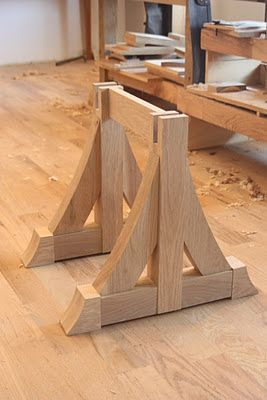 Combray Furniture Studio: The Hammer Beam Low Table . . . Creating Corbels and Making Sliding Dovetails
