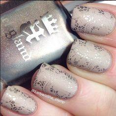 Nailpolis Museum of Nail Art | Stunning Lace Stamping Nails by Born Pretty