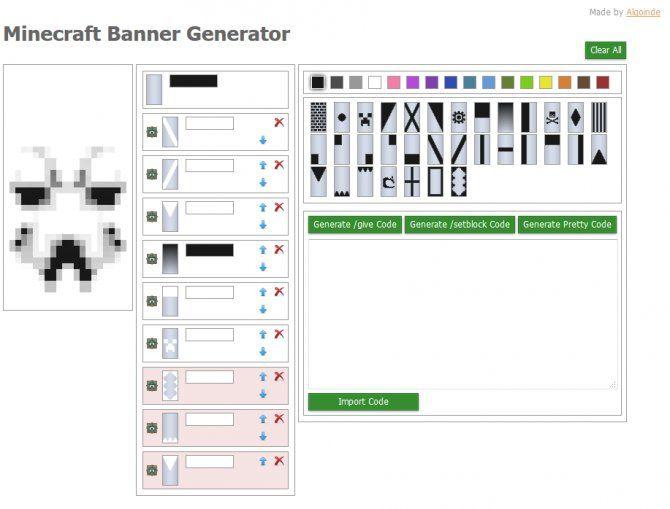 Minecraft banners crafting google s gning minecraft for Minecraft blueprint maker online