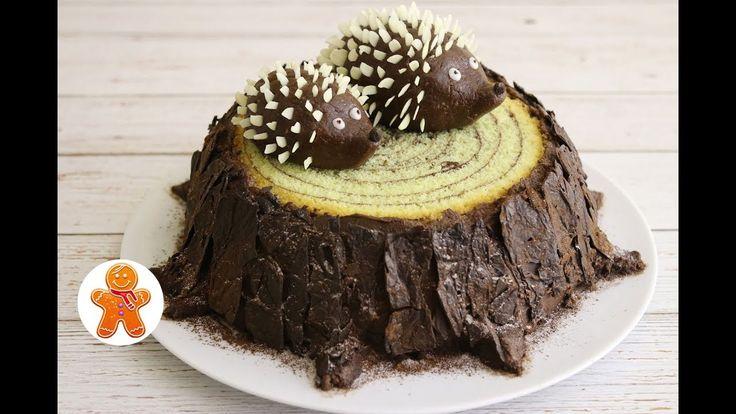 """Торт """"Трухлявый Пень"""" ✧ Stump Cake - YouTube Cream Creme"""