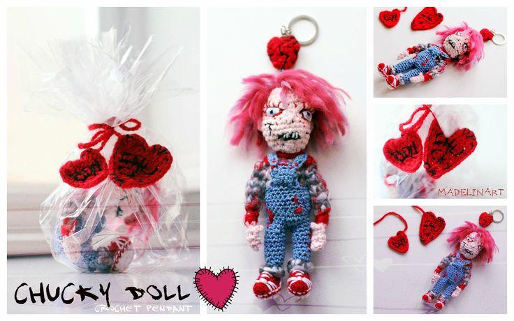 scary crochet pendant ;)