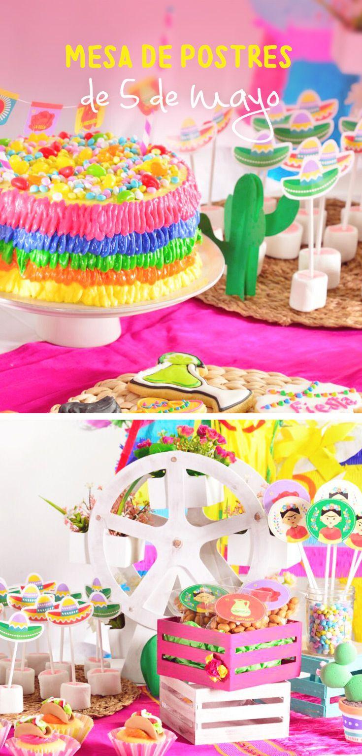 Este tip te enseñará paso a paso como poner una mesa de postres para tener una increíble fiesta mexicana llena de color. Te encantará el poder hacer galletas, cupcakes, pasteles y decoraciones divertidas y coloridas encantarán a todos los invitados.