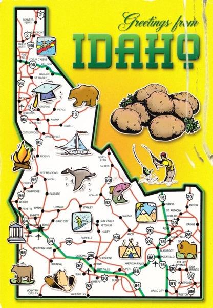 Best Roadtrips Images On Pinterest States United States - United states map idaho
