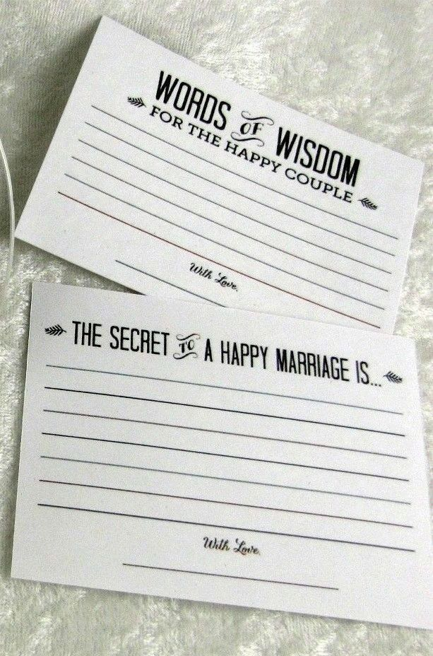 Wedding Advice Cards. Great for the Card Box. Lots of Wedding fun for guest.
