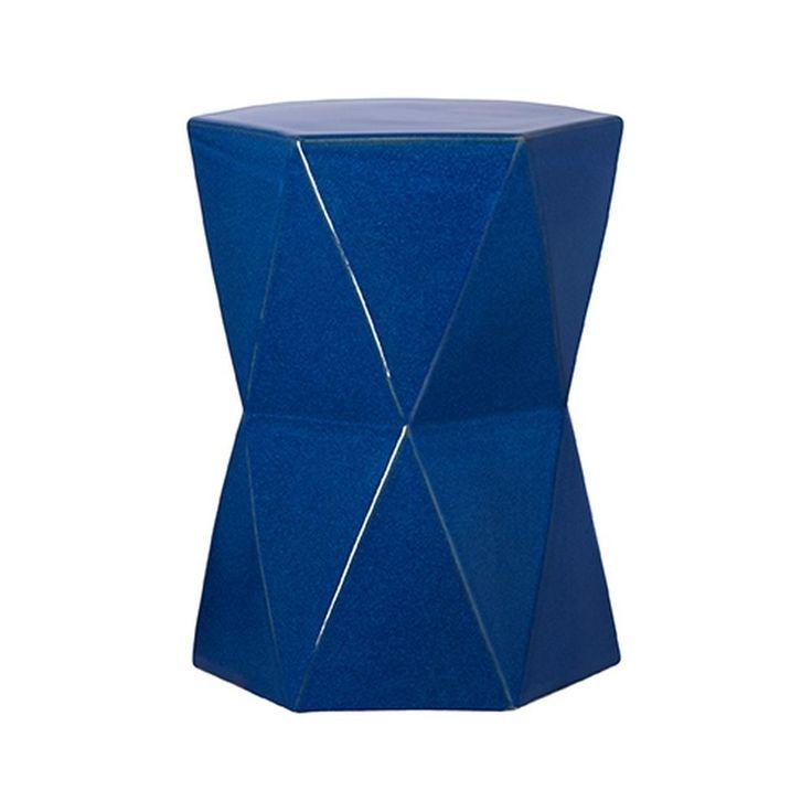 Blue Matrix Ceramic Garden Stool
