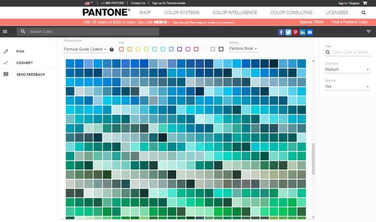 Pantone colour picker design colour color art