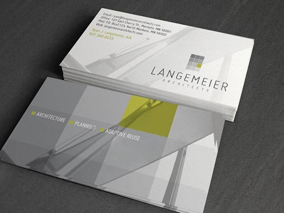 Langemeier Architects Business Card 34 Architects Business Card Designs