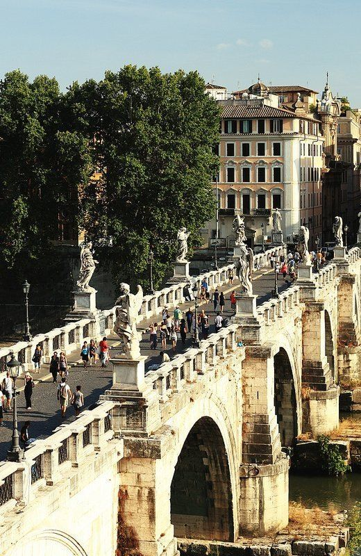 Ponte Saint Angelo, Rome....I saw it by bus but wish I could have walked across this magnificent bridge.