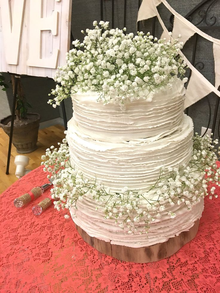 A short tutorial for a Rustic Buttercream Ruffled Wedding Cake. This is a super…
