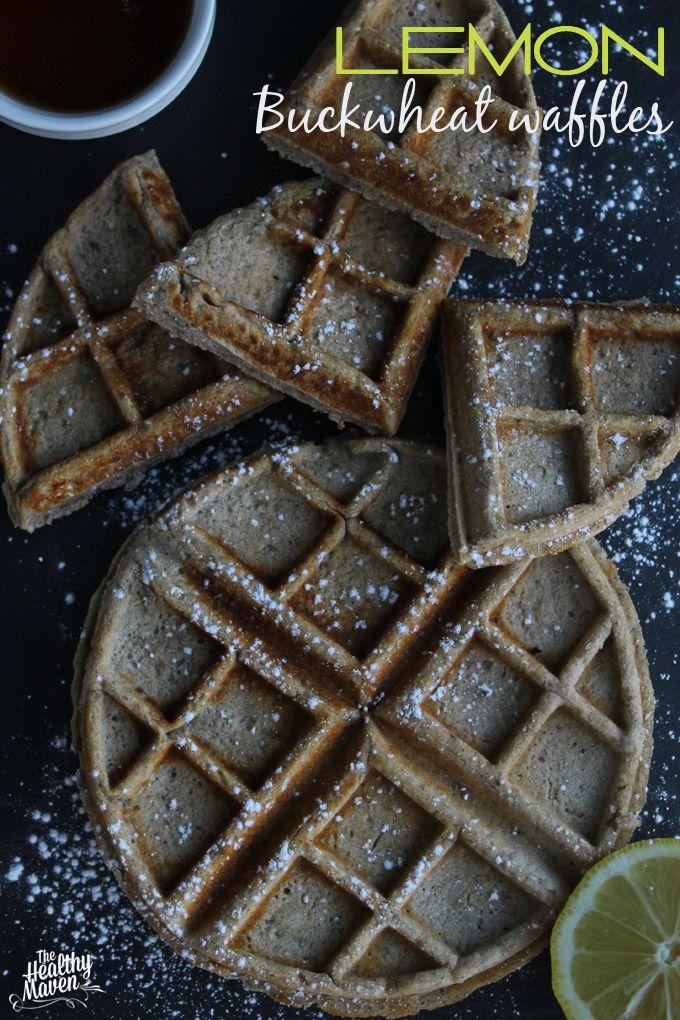 Celebrate International Waffle Day with these Lemon Buckwheat Waffles // TheHealthyMaven.com #glutenfree #vegan