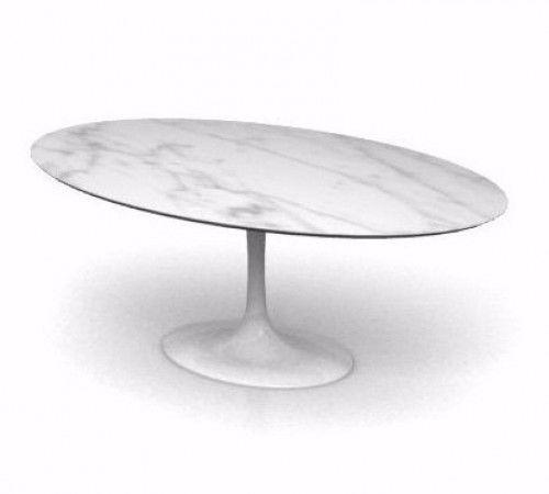 Saarinen Tulip Oval Dining Table With Carrara Marble Top