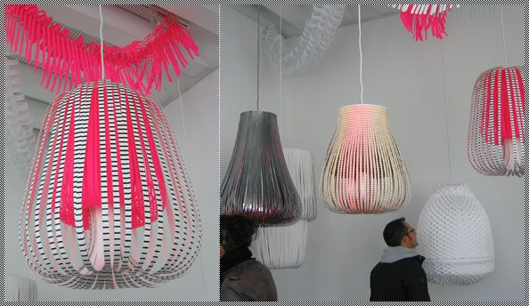 handmade paper lanterns by Dutch designer Paula Arntzen