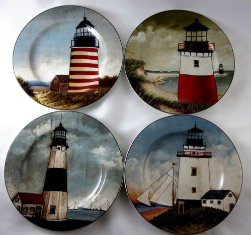 Lighthouse Sakura By The Sea Plates David Carter Brown Collection : lighthouse dinnerware - Pezcame.Com