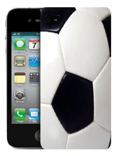 Silicone Case for Apple iPhone 4/4S - Soccer Ball by Art telecom