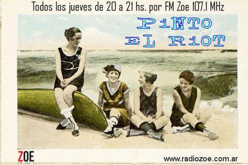 PINTO EL RIOT : ¡Puro azar radiofonico! Todos los jueves de 20 a 21 hs. por Radio Zoe en el 107.1 MHz de tu dial o por internet en www.radiozoe.com.ar Podes dejar mensajes en la pagina de Facebook del programa https://www.facebook.com/pintoelriot o llamar al teléfono de linea de la radio 2055-6292   pintoelriot