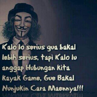 Kalo lo serius....