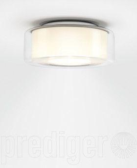 Serien Lighting Curling Ceiling Medium Klar/Opal zylindrisch LED