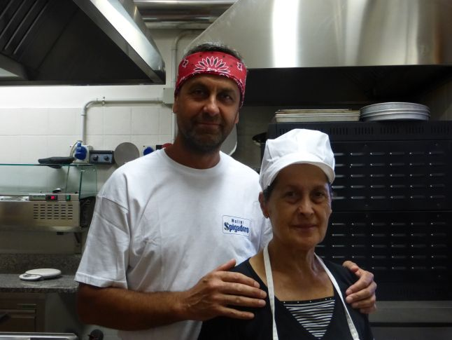 This is Dante with his mother at Country House Dante preparing various dishes for the restaurant. Country House Dante is a spacious country house with good restaurant.   Come and taste the wine and delicacies of the region!