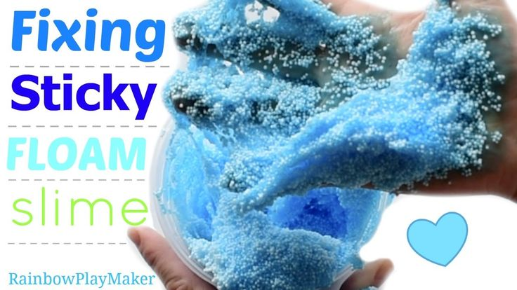 DIY FIXING STICKY WATERY FLOAM SLIME!!! SIMPLE & EASY
