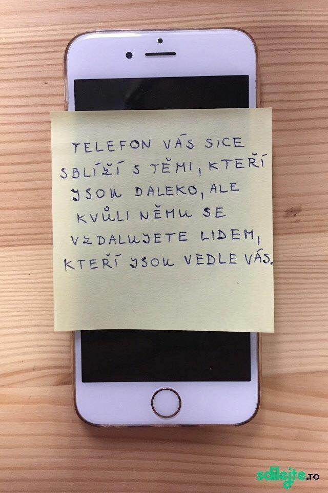Nevýhoda mobilov... ale pravda