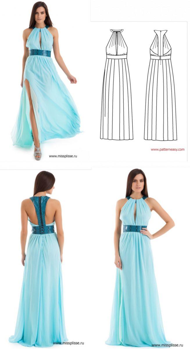 пошив праздничного платья в пол пошагово фото