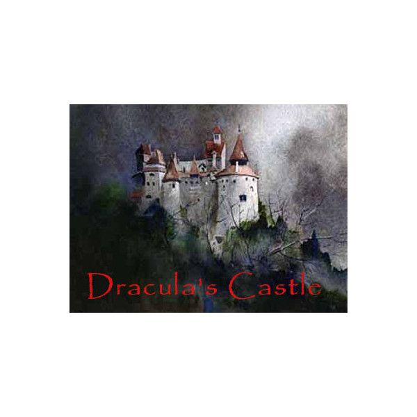 Dracula's Castle Scary Website ❤ liked on Polyvore featuring halloween