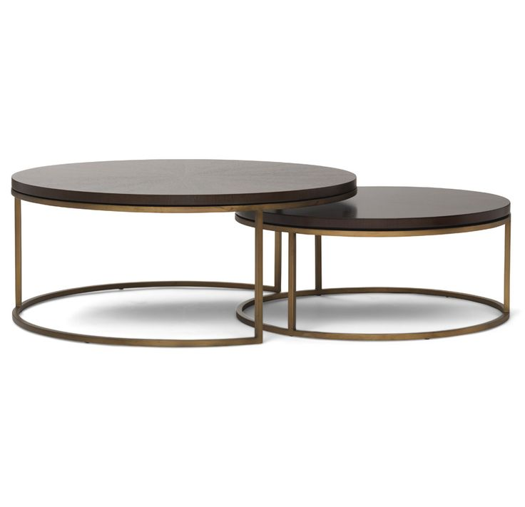 Noir Eclipse Oval Coffee Table: BASSEY NESTING COCKTAIL TABLE [available Online And In