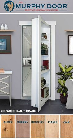 Single Flush Mount Door Hidden Door Bookcase Hidden