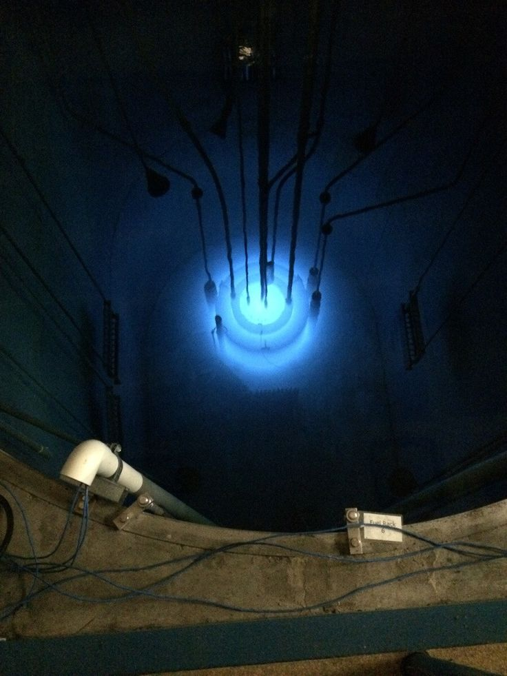 Unfiltered picture of a nuclear reactor