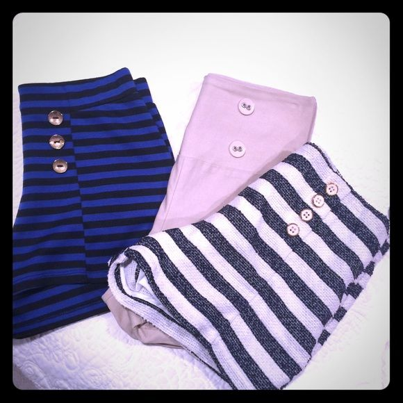 Nude shorts Nude shorts, size medium. **both striped shorts have sold** this is just for the nude Forever 21 Shorts