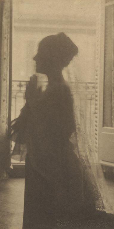 """[Silhouette of a Woman / A Maiden at Prayer],"" Gertrude Käsebier, about 1899."