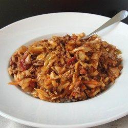 Spicy Unstuffed Cabbage - Allrecipes.com ground beef
