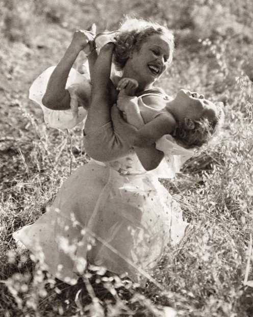 Miriam Hopkins & son Michael, 1930s