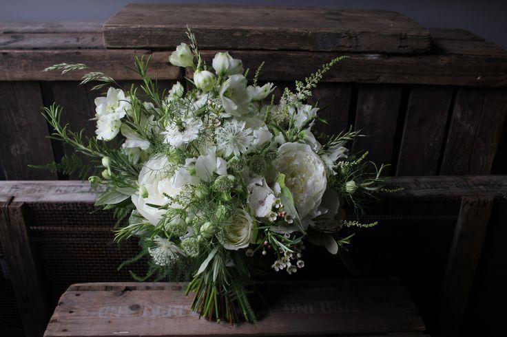 Early Summer White's Bridal Bouquet. www.theflowermilldraycott.co.uk